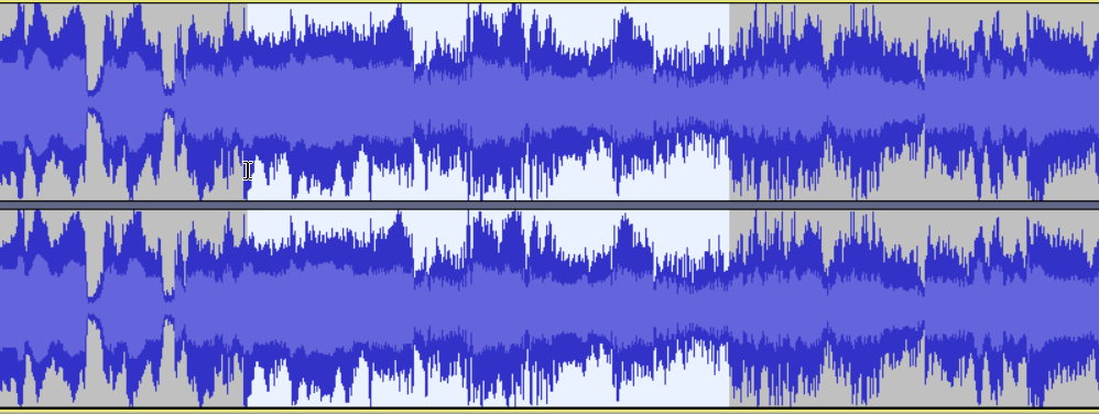 Audacity Waveform
