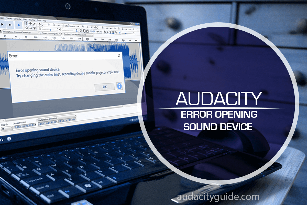 error opening sound device audacity